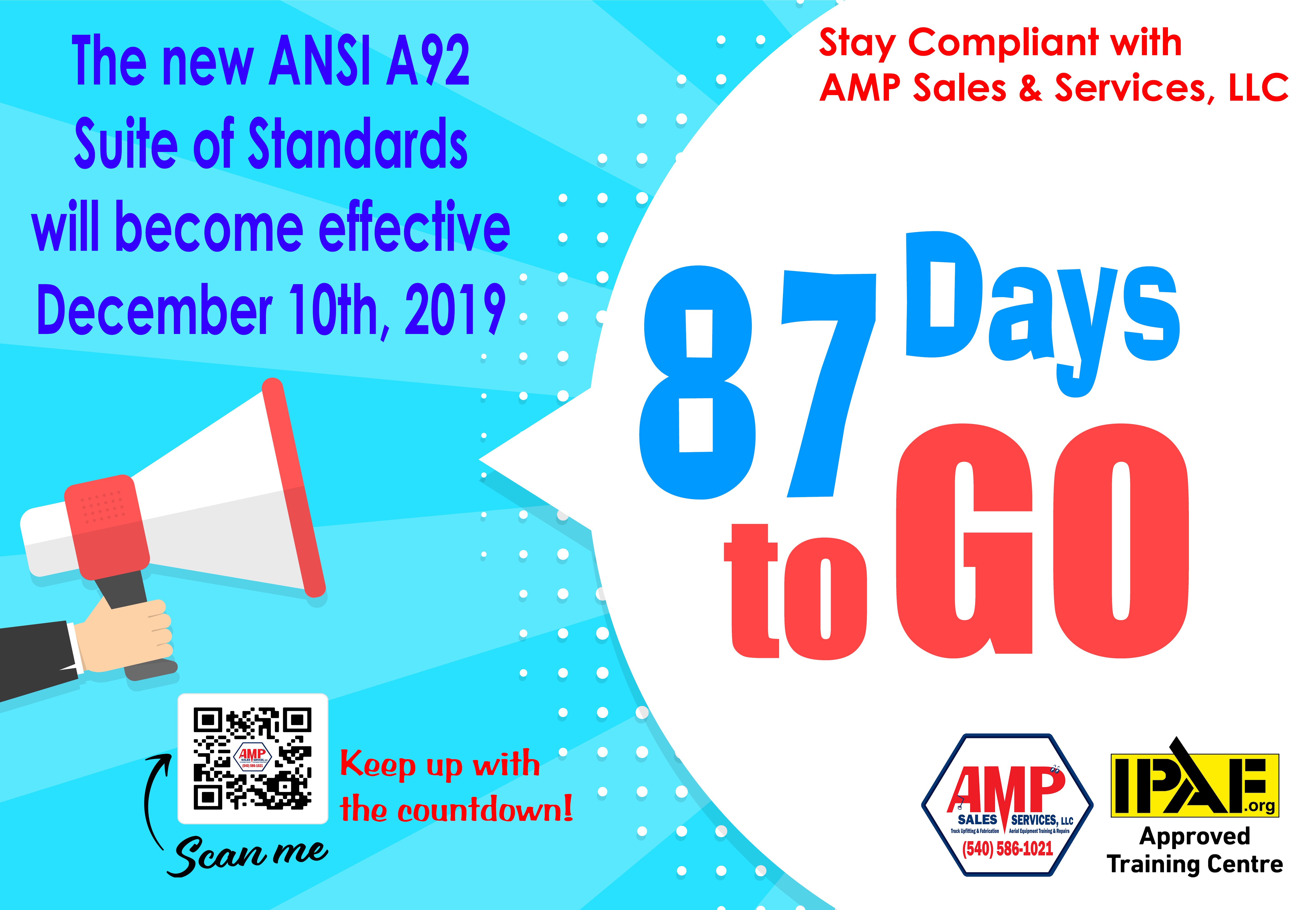 87 Days to Go – The new ANSI A92 Suite of Standards will become effective December 10th, 2019